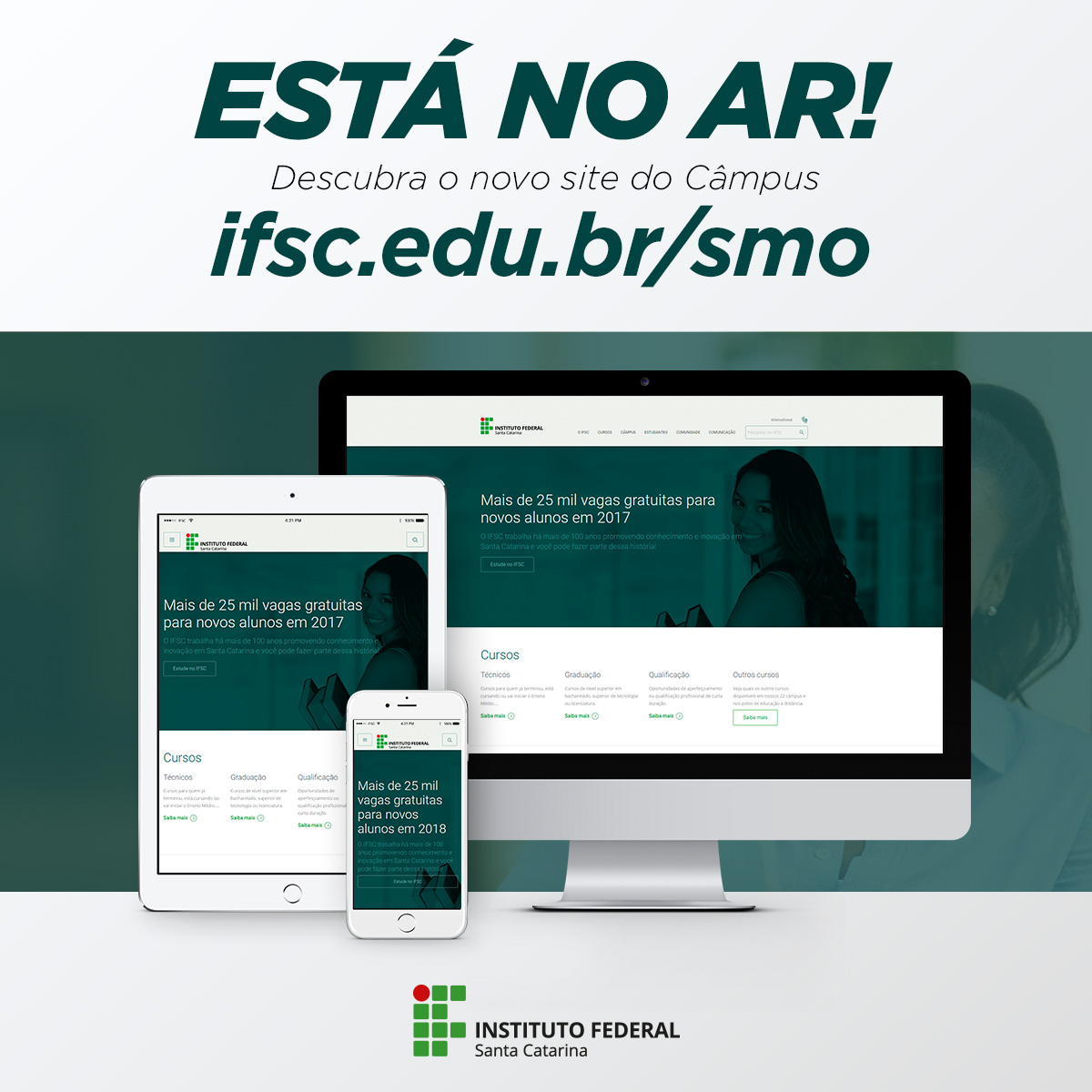 Está no ar o novo site do Câmpus SMO