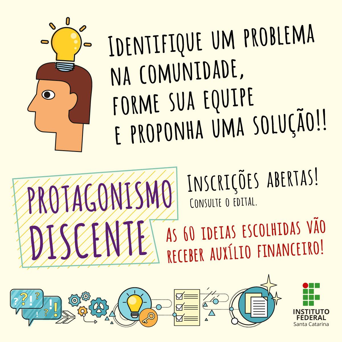 Protagonismo Discente: estudantes podem inscrever propostas para solucionar problemas da comunidade